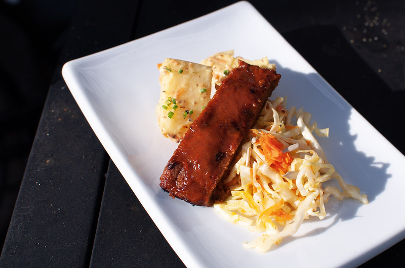 vegan rib plate