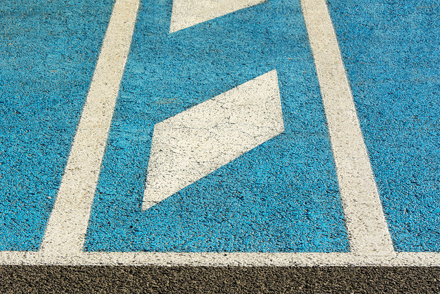 Play of lines on parking