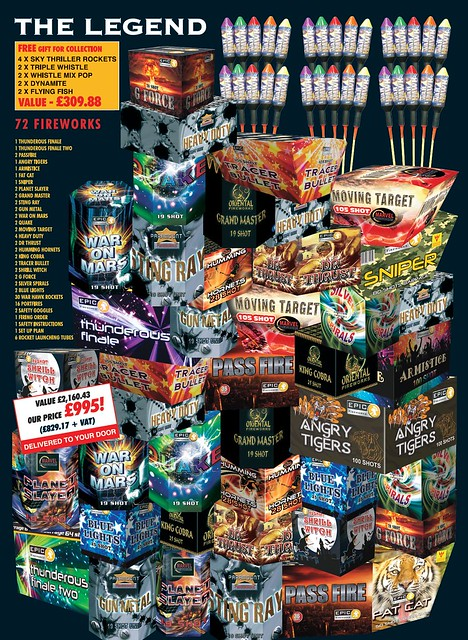 NEW FOR 2019 The Legend Fireworks Package