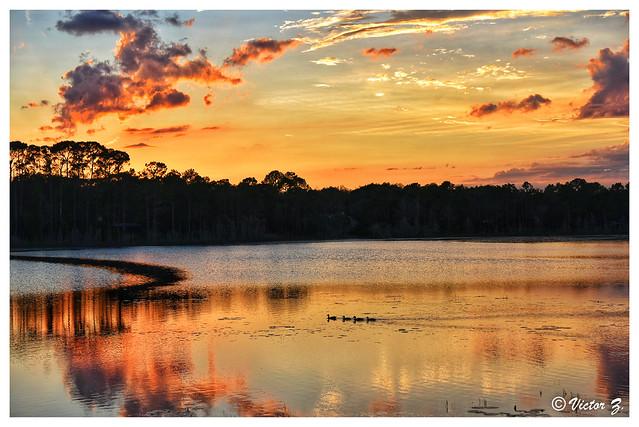 Sunset Heathrow Lake Florida -33