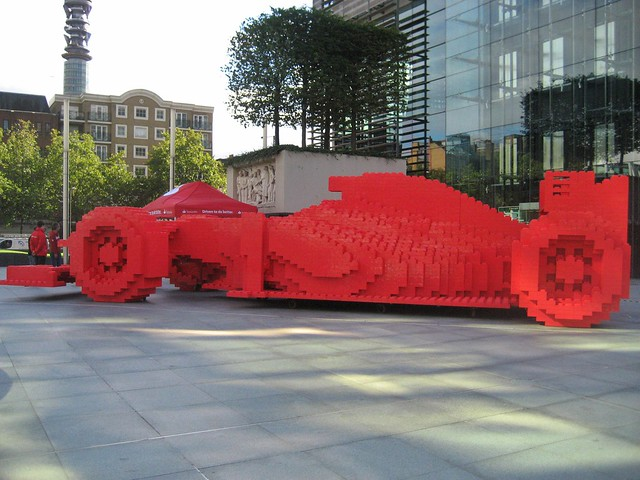 Lego F1 Ferrari | London Sculpture