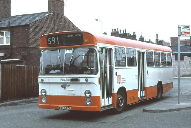 Greater Manchester PTE . 6047 TDK547K . Leigh Bus Station , Manchester . Sunday 29th-September-1979 .