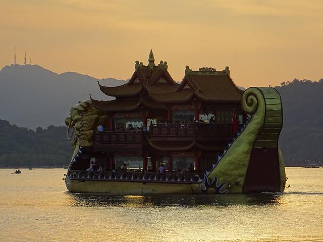 Dragon boat - West Lake, Hangzhou