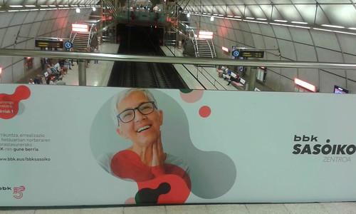 Primera aparición pública de #BBKsasoiko,... en @metrobilbaoeus estación @CascoViejo,...