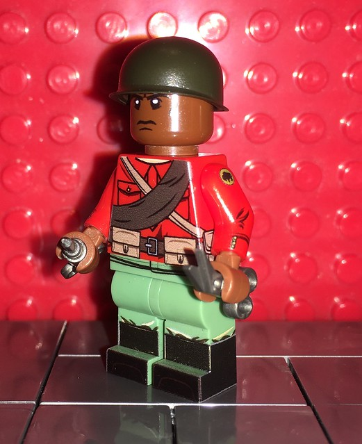 UB Mystery Pack unique minifigure #8 - 92nd Infantry Division Buffalo Soldiers (USA)