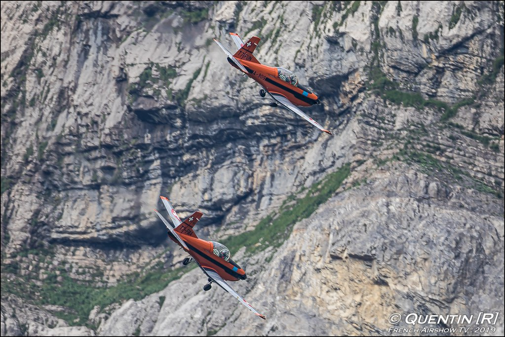 FMA-Flyers mit PC7 Zigermeet Mollis en Suisse Canon Sigma France contemporary lens Meeting Aerien 2019