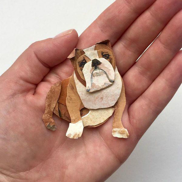 Cut Paper English Bulldog