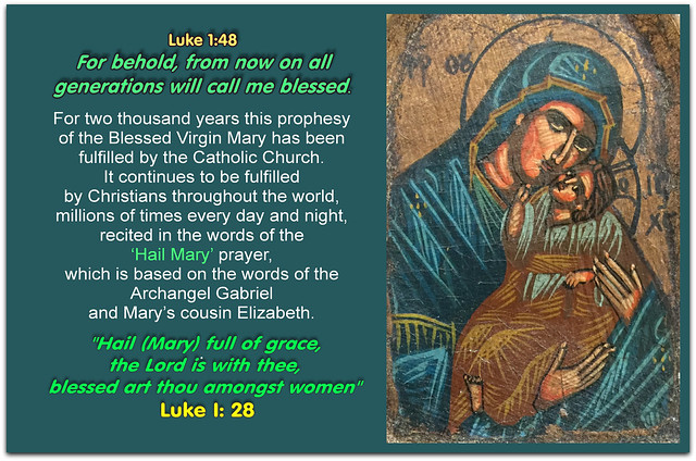 Prophesy of the Blessed Virgin Mary, mother of Jesus Christ:
