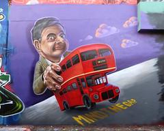 Mr Bean says Mind the Gap.