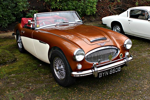 austinhealey 1960s british bmc sportscar healey3000 bighealey brooklands brooklands2016 byn860b