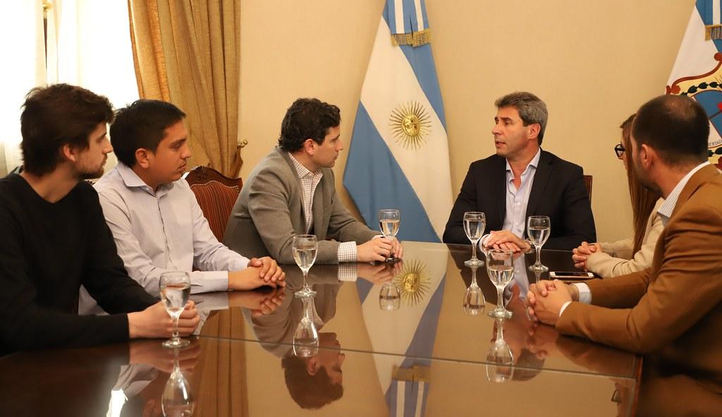 2019-09-24 PRENSA: Sergio Uñac recibió al dirigente Francisco Cafiero