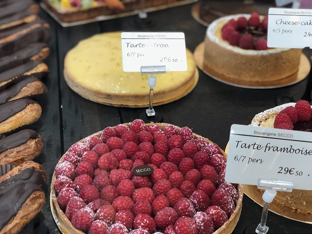 Traditional Parisian pastry dish topped with fruit