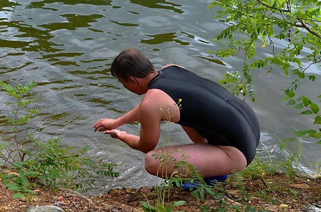 U vody v plavkách Speedo Hydrasuit