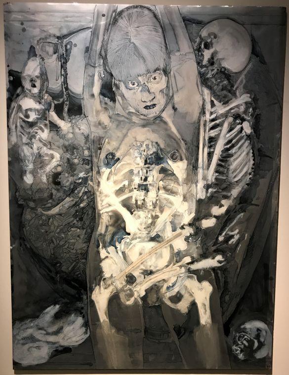 IMG_1549JaapDeVriesTheEnigmaOfLove(X-Ray)2010AquarelverfOpAluminium