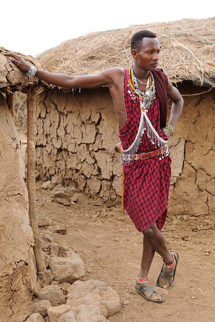 Maasai man, Amboseli National Park,Kenya
