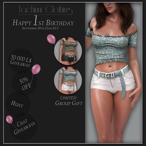 Tachinni Clothing - Birthday!!!