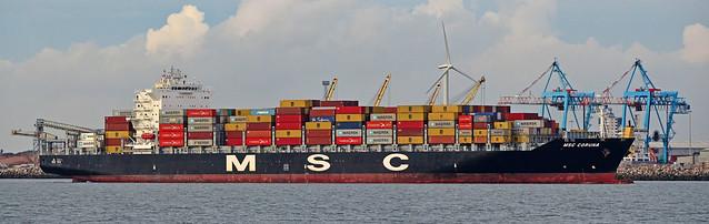 Ships of the Mersey--- MSC Coruna