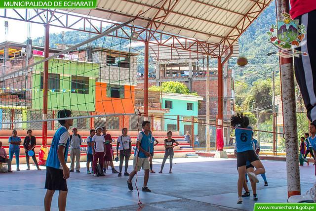 Clausura de olimpiadas deportivas de centros de alternancia en Kiteni