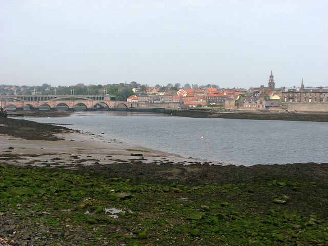 The River Tweed and Berwick-upon-Tweed from Tweedmouth