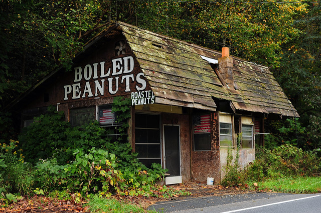 Abandoned Boiled Peanuts - Near Bryson City, North Carolina