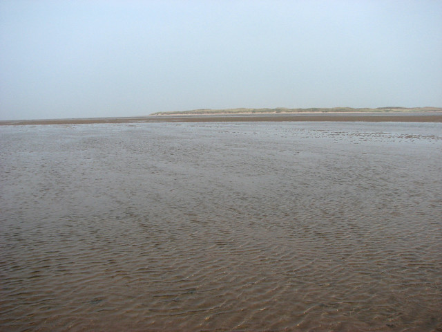 Crossing to Holy Island over the sands