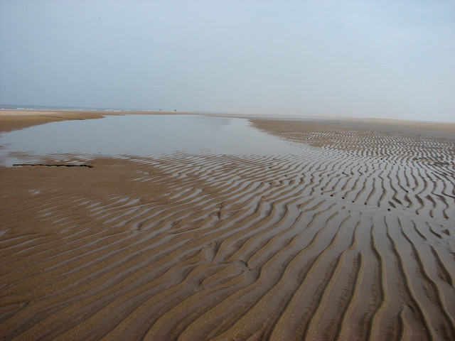 The beach at Goswick Links