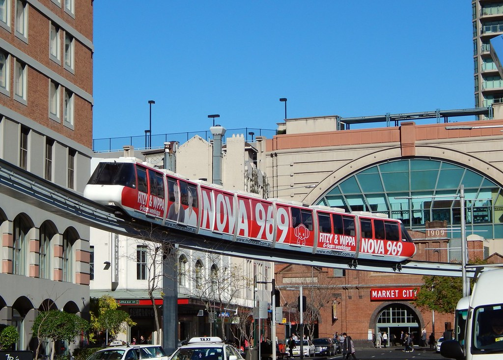 Sydney Monorail, Haymarket, Sydney, NSW.