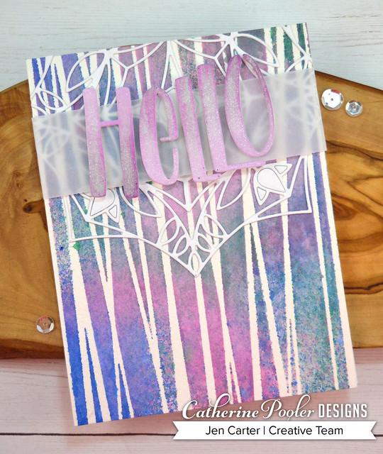 Bear Grass Stencil Garden Gate Color Burst Jen Carter 2