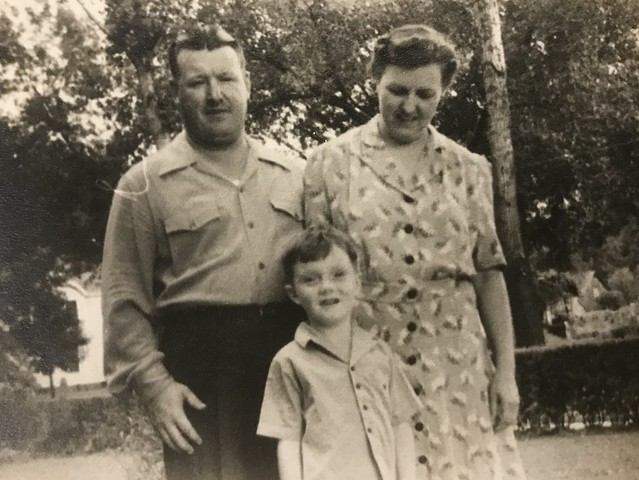 Jared, Esther, and Bill Lyon circa 1942