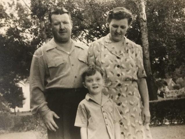 Jared, Esther, and Bill Lyon circa 1942