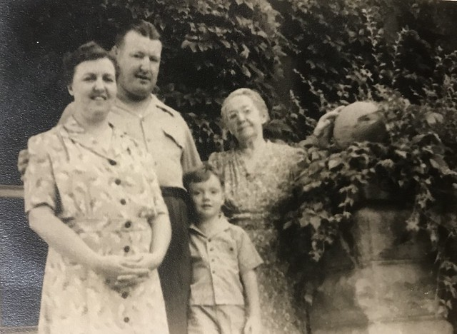 Esther, Jared, Viola, and Bill Lyon circa 1942