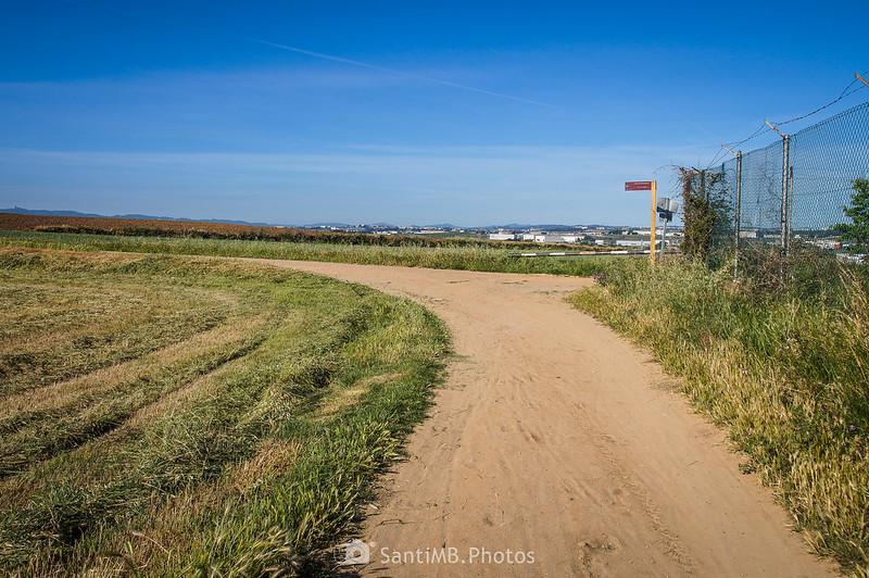 Llegando al Camí dels Bandolers en Gallecs