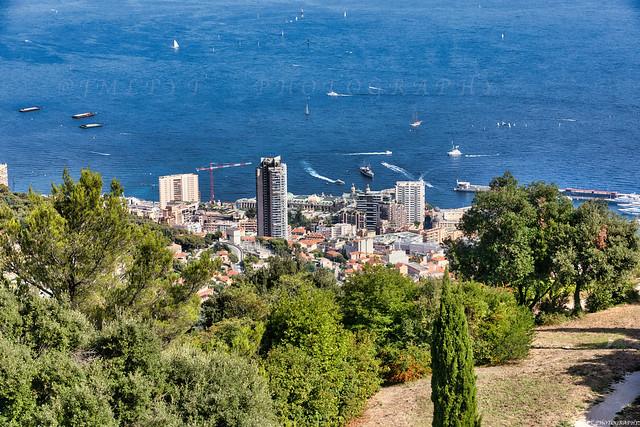 Monaco vue depuis La Turbie - Côte d'Azur France -3D0A3985