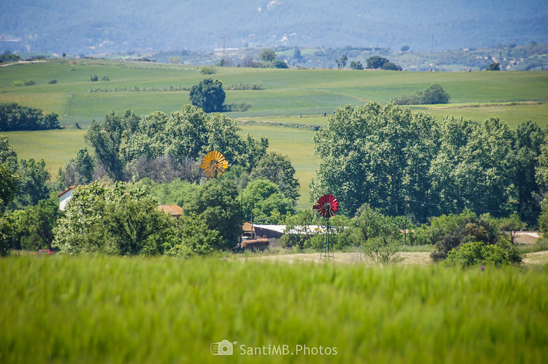 Paisaje de Gallecs desde el Camí de Sant Valerià