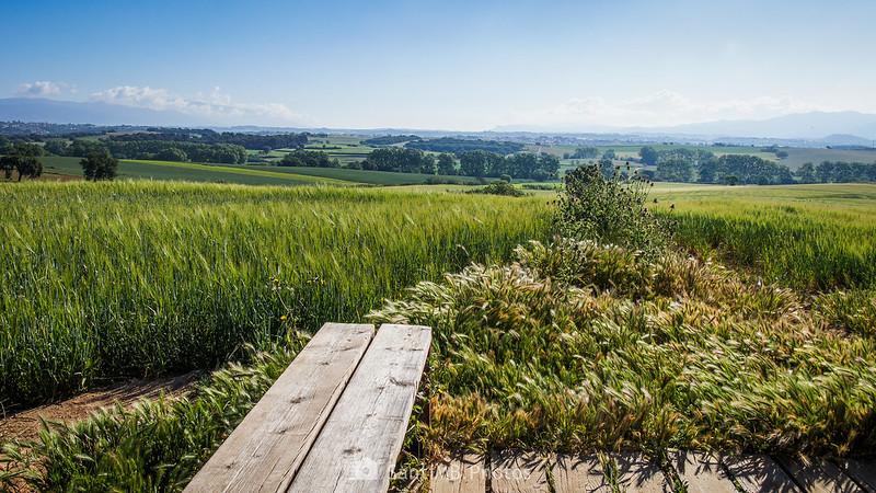 El Vallès Oriental desde el Mirador del Vallès en Gallecs