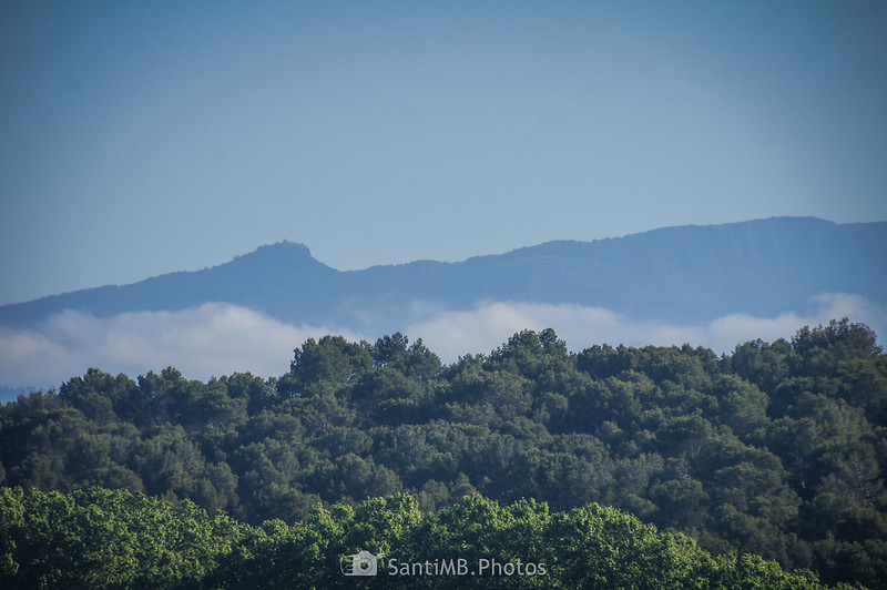 El Turó de Tagamanent y el Pla de la Calma desde Gallecs