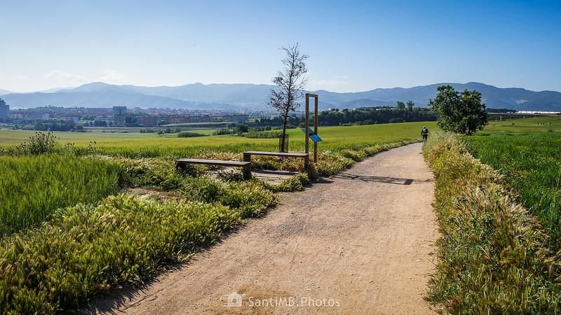 Mirador del Vallès en el Camí dels Bandolers en Gallecs