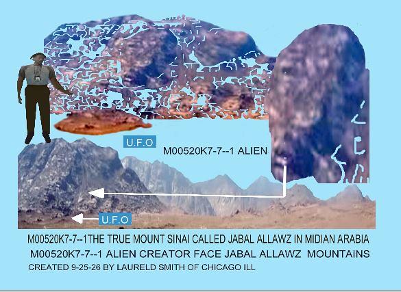 -M00520K7-7--1 ALIEN CREATOR FACE OFTHE  MOUNTAINS  IN JABAL ALLAWZ IN MIDIAN ARABIA-M00520K7