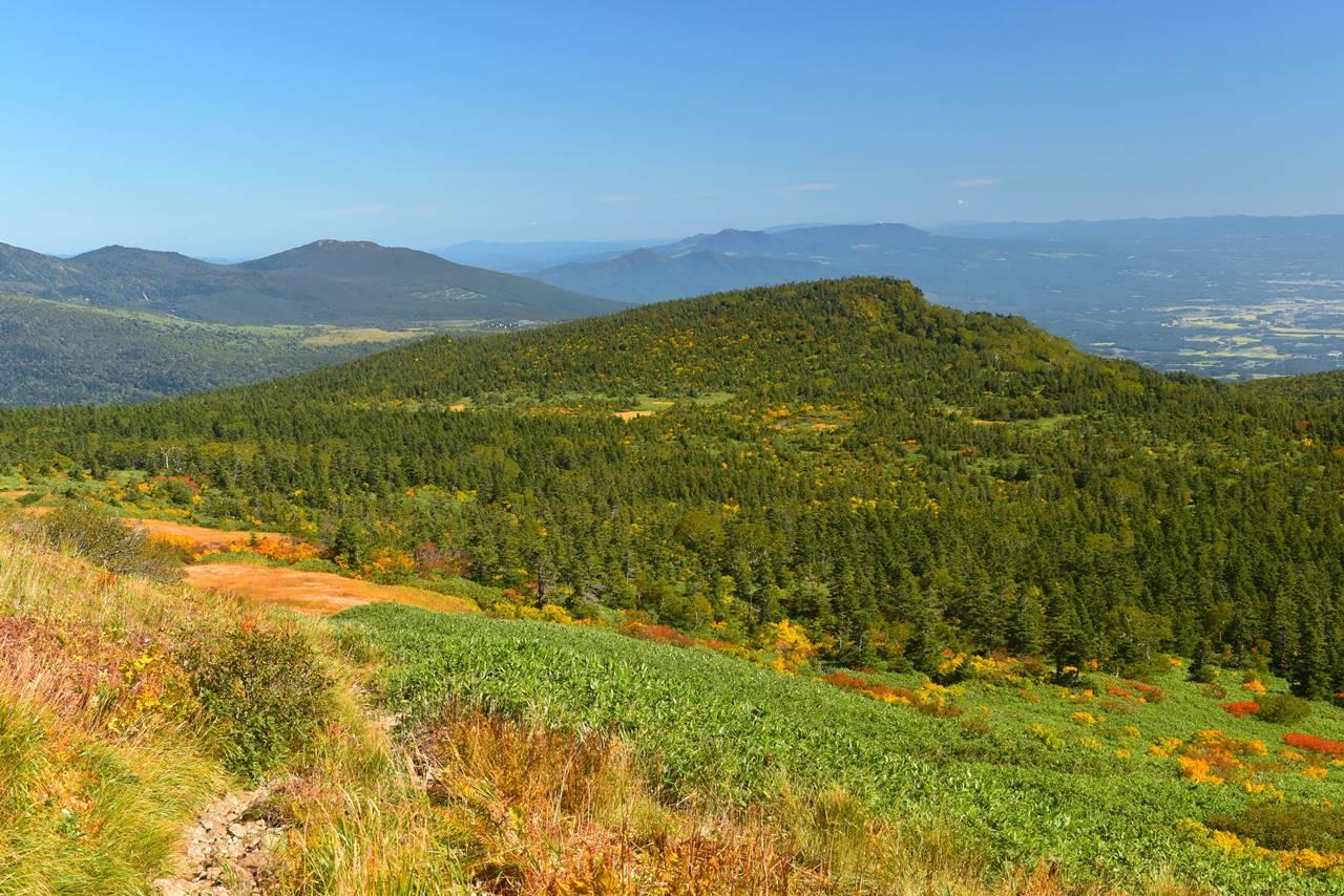 源太ヶ岳 登山道からの紅葉風景