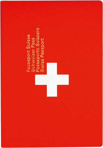 Swiss passport, 1985. Despite a redesign in 2003, Gottschalk + Ash's original design  is possibly the most memorable iteration.