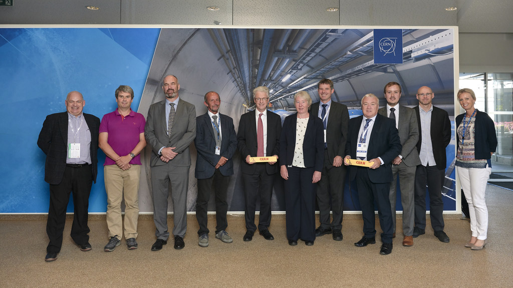 The University of Bath delegation at CERN - Credit: Julien Ordan