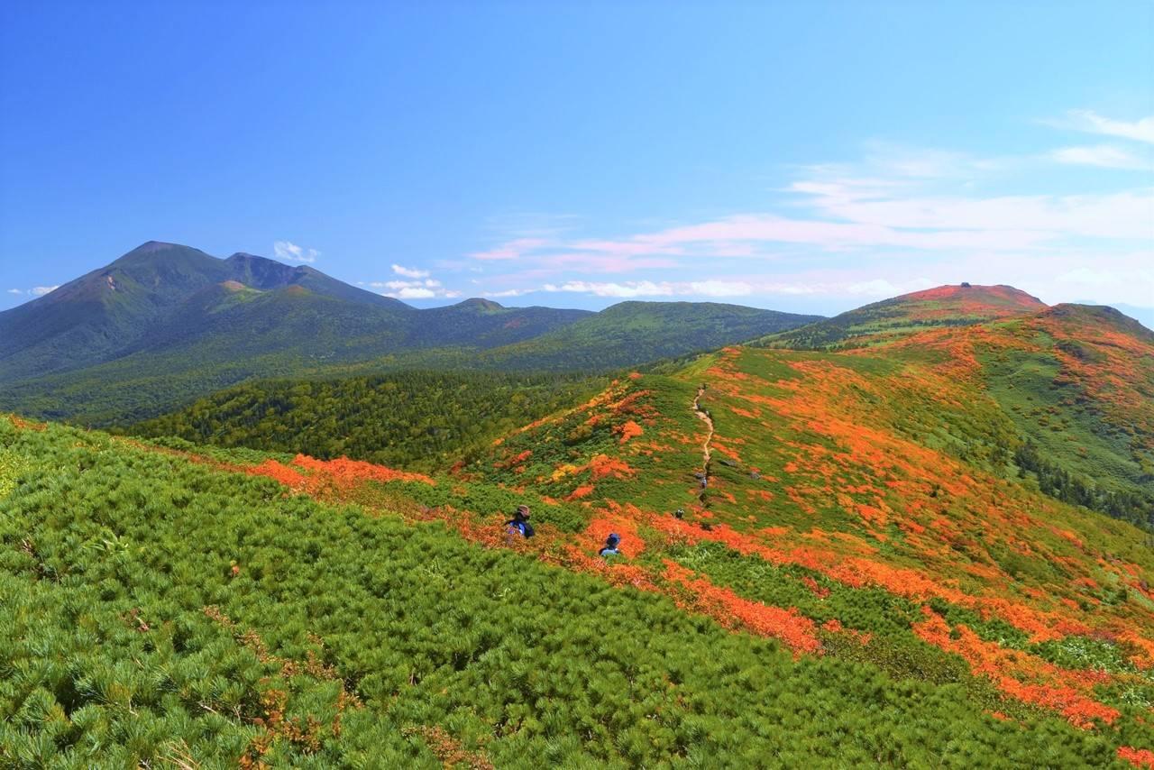 小畚山から眺める三ツ石山と岩手山