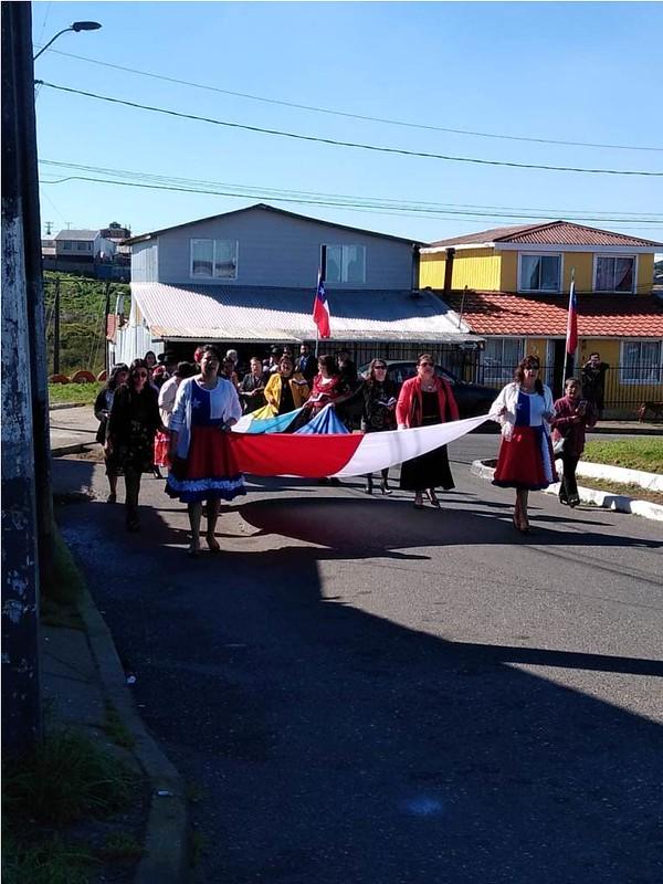 Desfile Fiestas Patrias IMPCH Los Copihues, Talcahuano.
