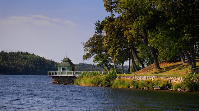 The pavilion on the lake