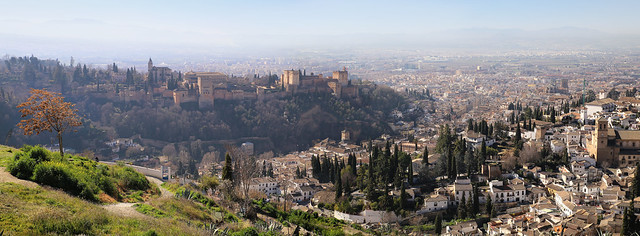Gran mirador de San Miguel of the city Granada