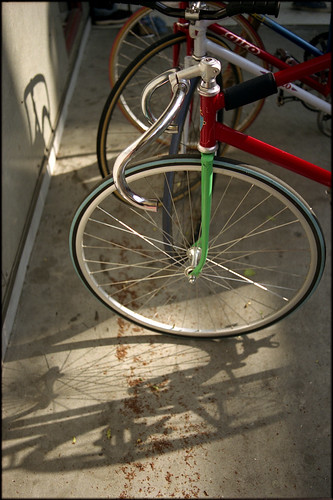 Wheel and shadow