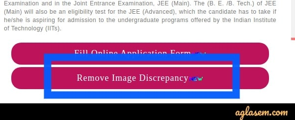 JEE Main 2020 Image Correction