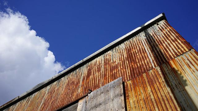 Sky and rust.