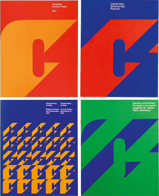 Marketing material for outdoor advertising contractor Claude Neon, 1973, designed by Gottschalk + Ash  in collaboration with Freddy Jaggi.