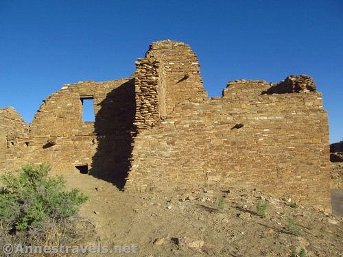A more intact part of Pueblo del Arroyo, Chaco Culture National Historical Park, New Mexico